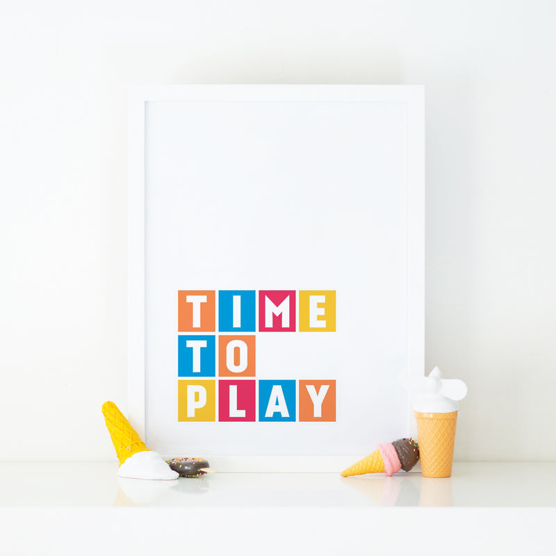 """TIME TO PLAY"" CHILDREN'S WALL PRINT"