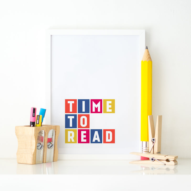 """TIME TO READ"" KID'S ROOM PRINT"