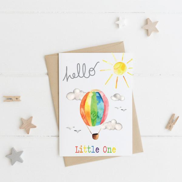 HELLO LITTLE ONE - NEW BABY CARD