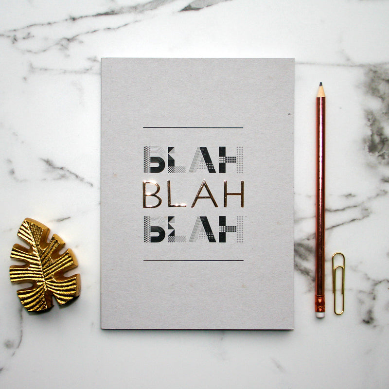 BLAH BLAH BLAH NOTEBOOK