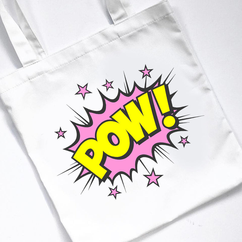 SUPERHERO CANVAS TOTE BAG