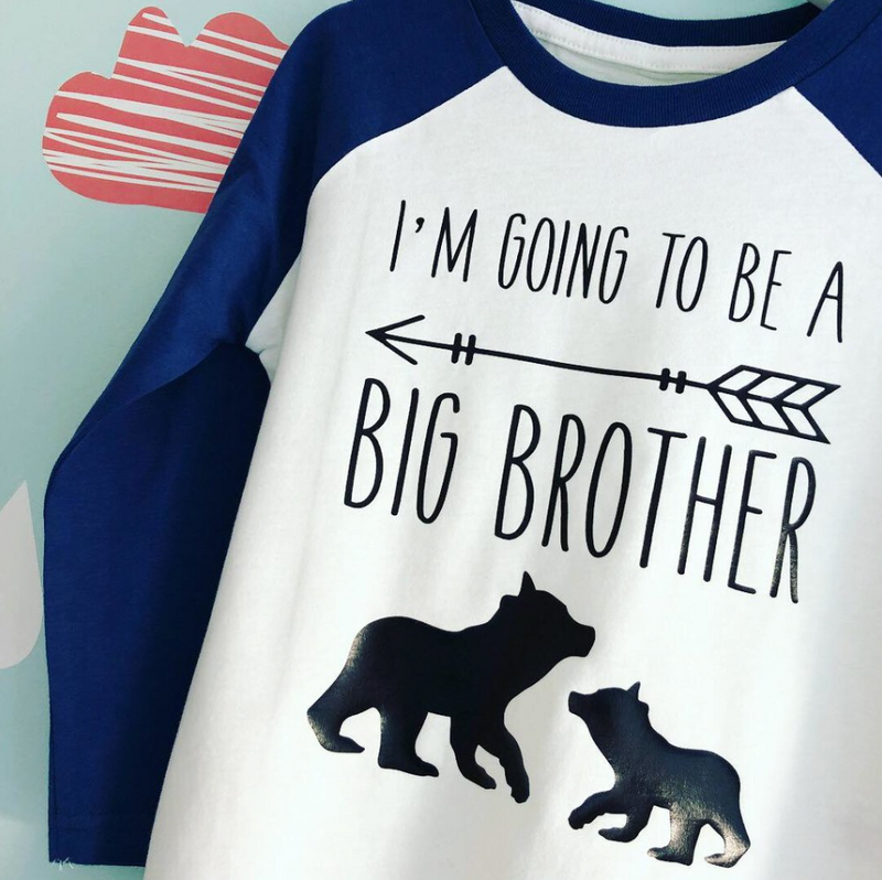 NEW BABY ANNOUNCEMENT TOP - I'M GOING TO BE A BIG BROTHER OR SISTER