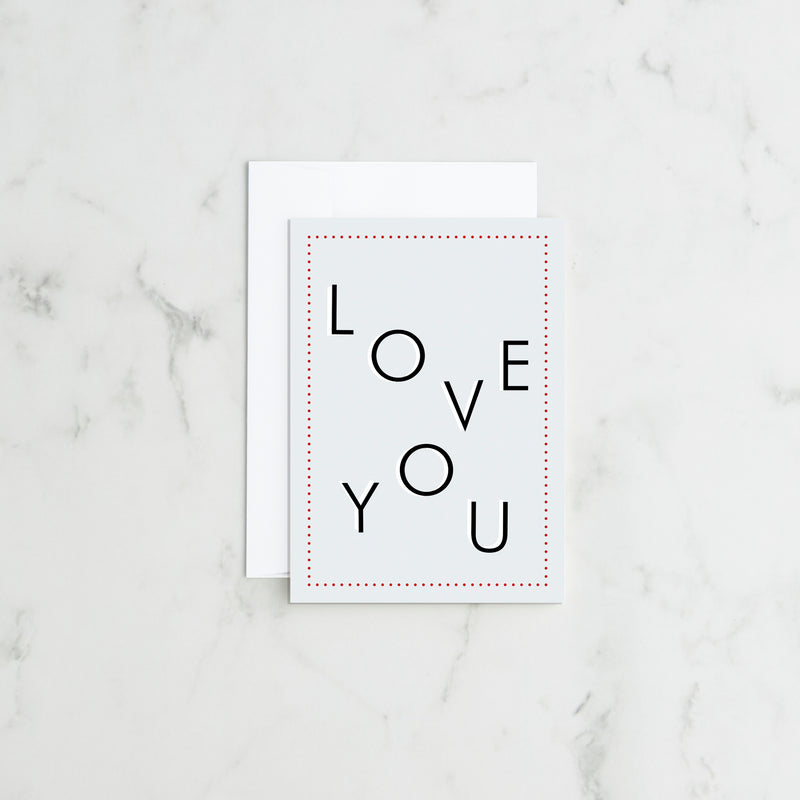 Love You - Greetings Card