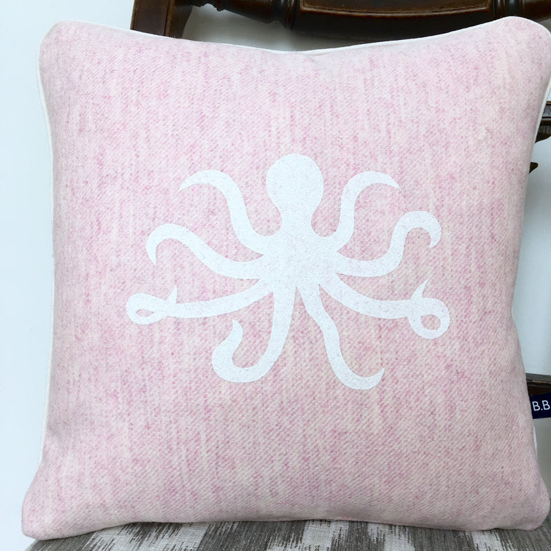 OLIVIA OCTOPUS CUSHION - PINK FABRIC