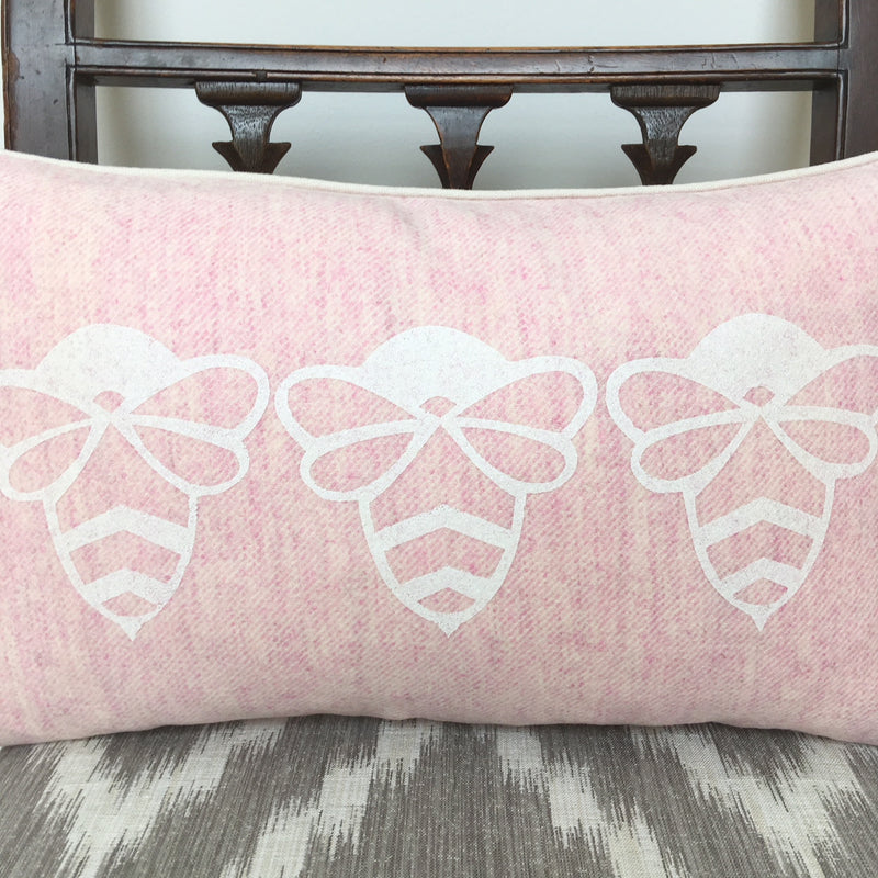 TRIPLE BESSIE BUMBLEBEE WOOL CUSHION