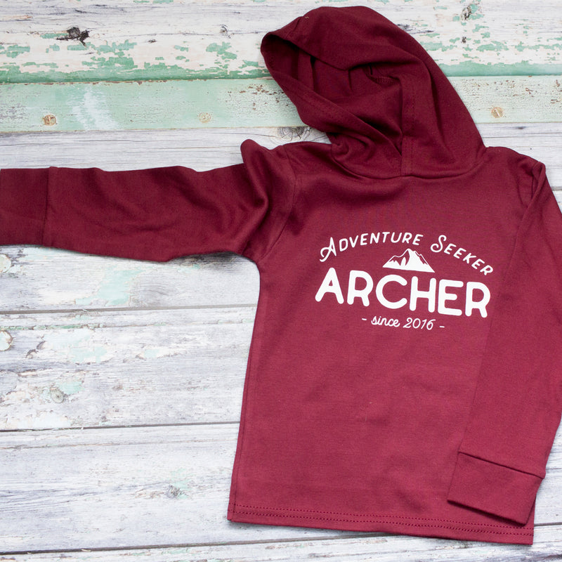PERSONALISED ADVENTURE SEEKER T SHIRT OR SWEATSHIRT
