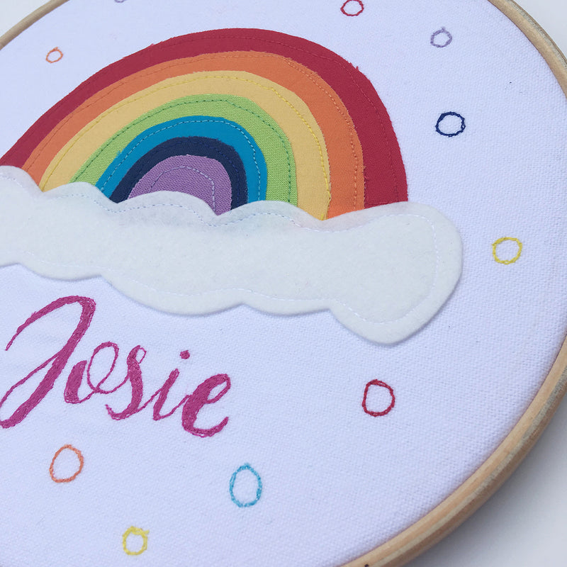 PERSONALISED RAINBOW EMBROIDERY ART