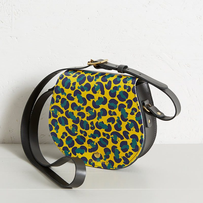 ETTER SADDLEBAG, PRINTED LEATHER BAG