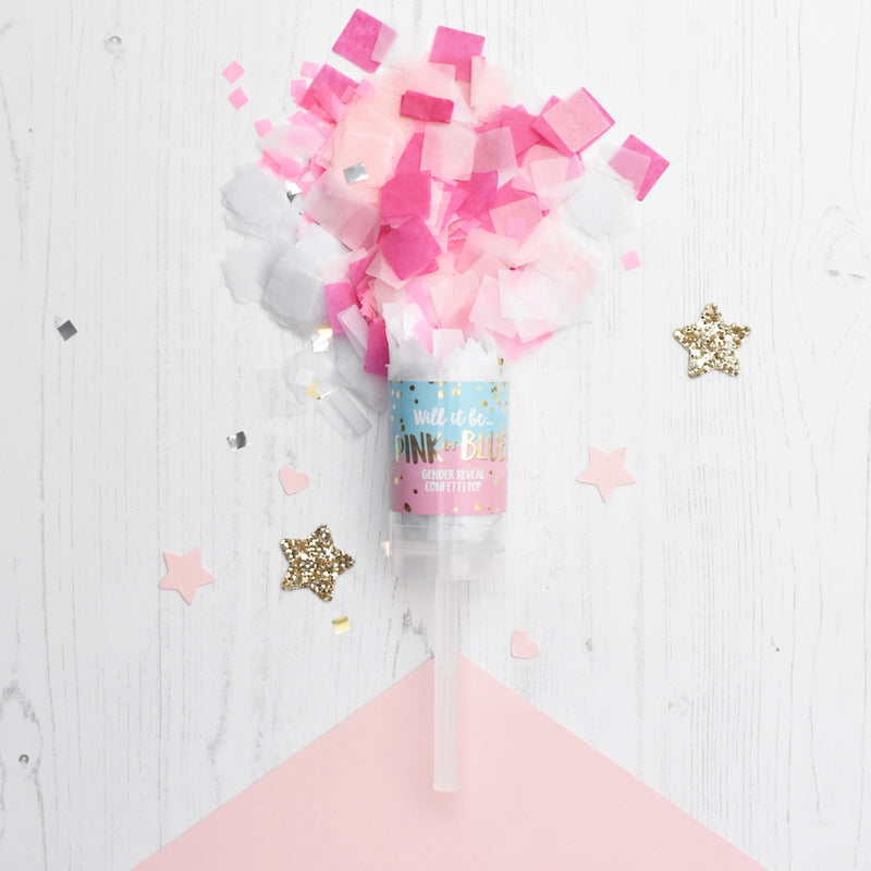 'PINK OR BLUE' GENDER REVEAL CONFETTI POP