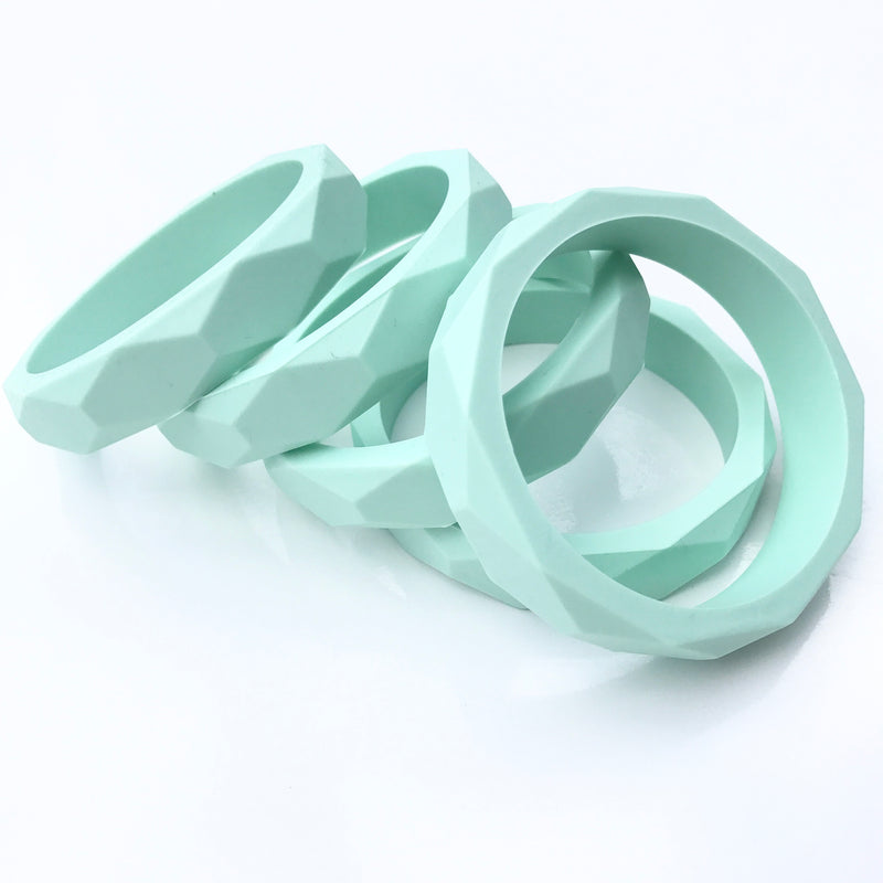 STYLISH SILICONE GEOMETRIC TEETHING BANGLES