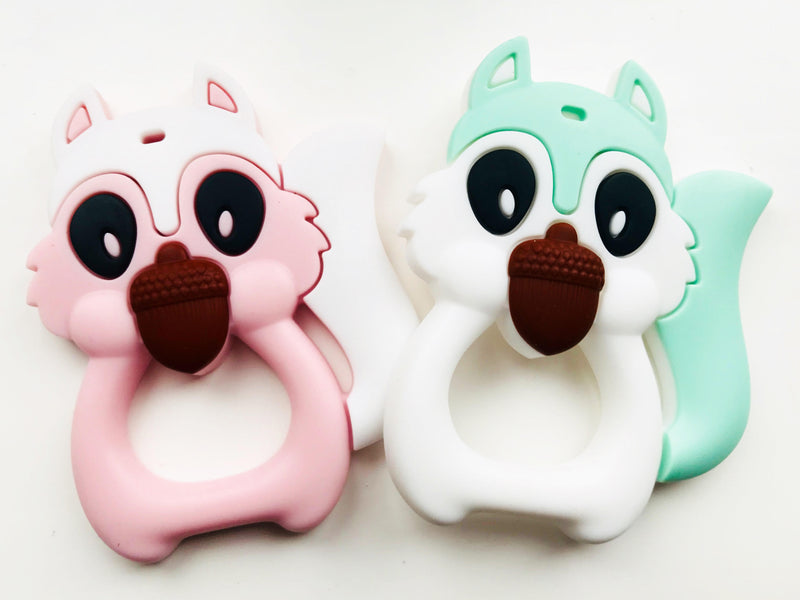SILICONE SQUIRREL TEETHER