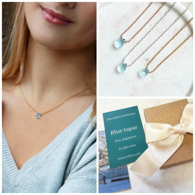 DAINTY DECEMBER BIRTHSTONE NECKLACE