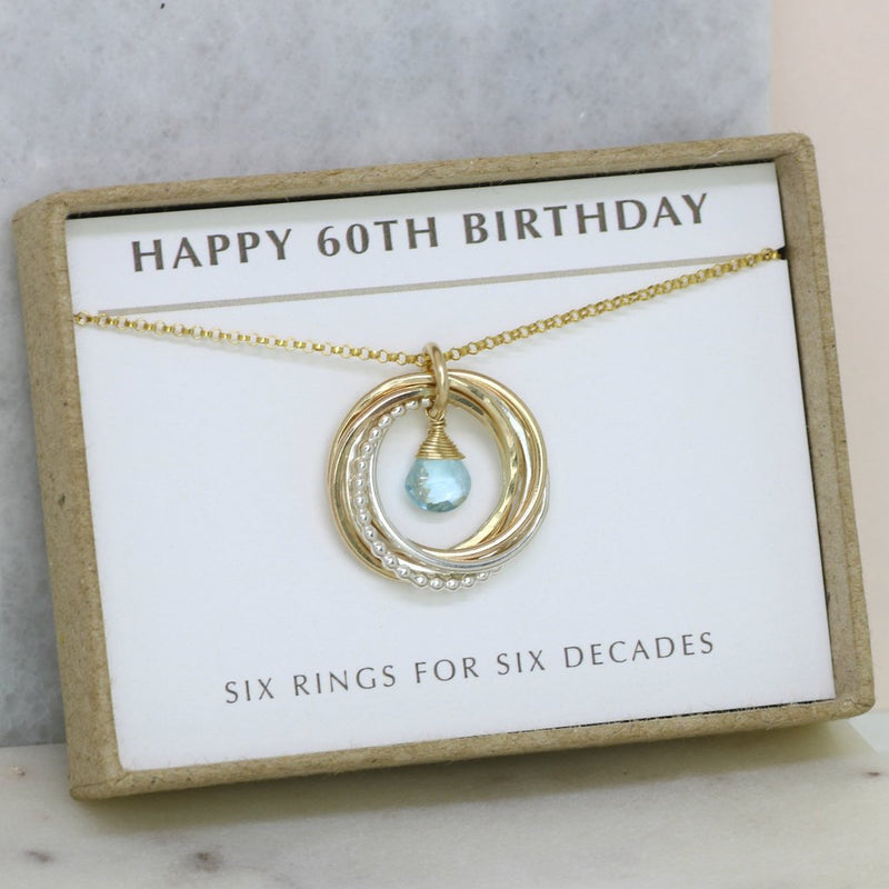 60TH BIRTHDAY NECKLACE, MOONSTONE NECKLACE, DECEMBER BIRTHSTONE