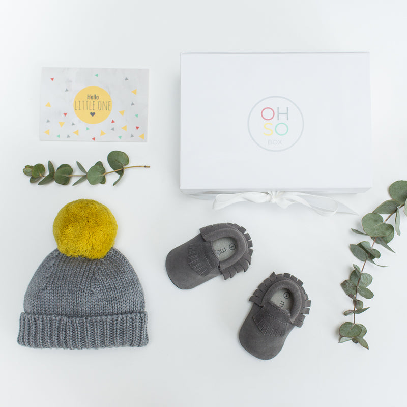 The OhSo 'Bobble + Moccs' Gift Box for Baby