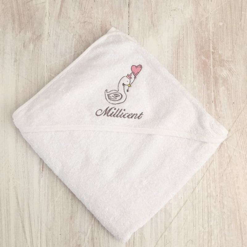 LITTLE SWAN HOODED TOWEL - VARIOUS COLOURS