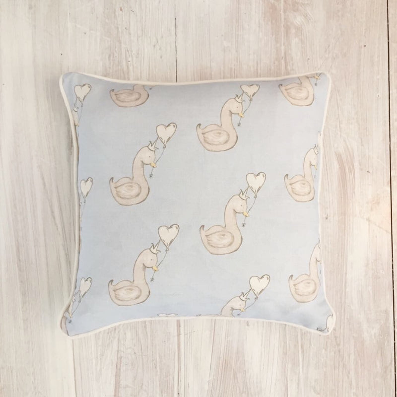 LITTLE SWAN SQUARE PIPED CUSHION - VARIOUS COLOURS