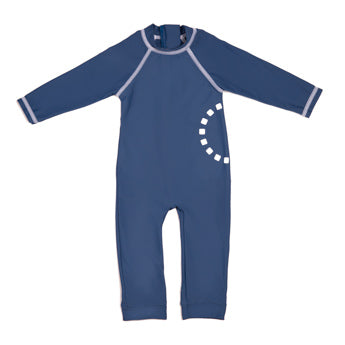 BLUE ALL-IN-ONE SWIMSUIT 6-12 MONTHS