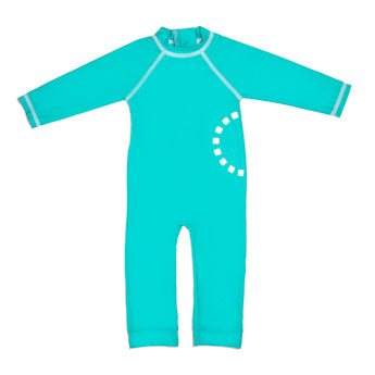 TURQUOISE ALL-IN-ONE SWIMSUIT 1-2 YEARS