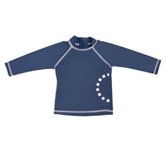 BLUE LONG-SLEEVED SWIMMING TOP 6-12 MONTHS