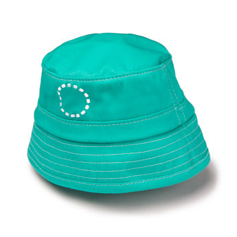 TURQUOISE/ WHITE SUN PROTECTION BUCKET HAT 6 MONTHS - 2 YEARS