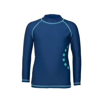 BLUE/ TURQUOISE LONG-SLEEVED SUN PROTECTION SWIMMING TOP 2-5 YEARS