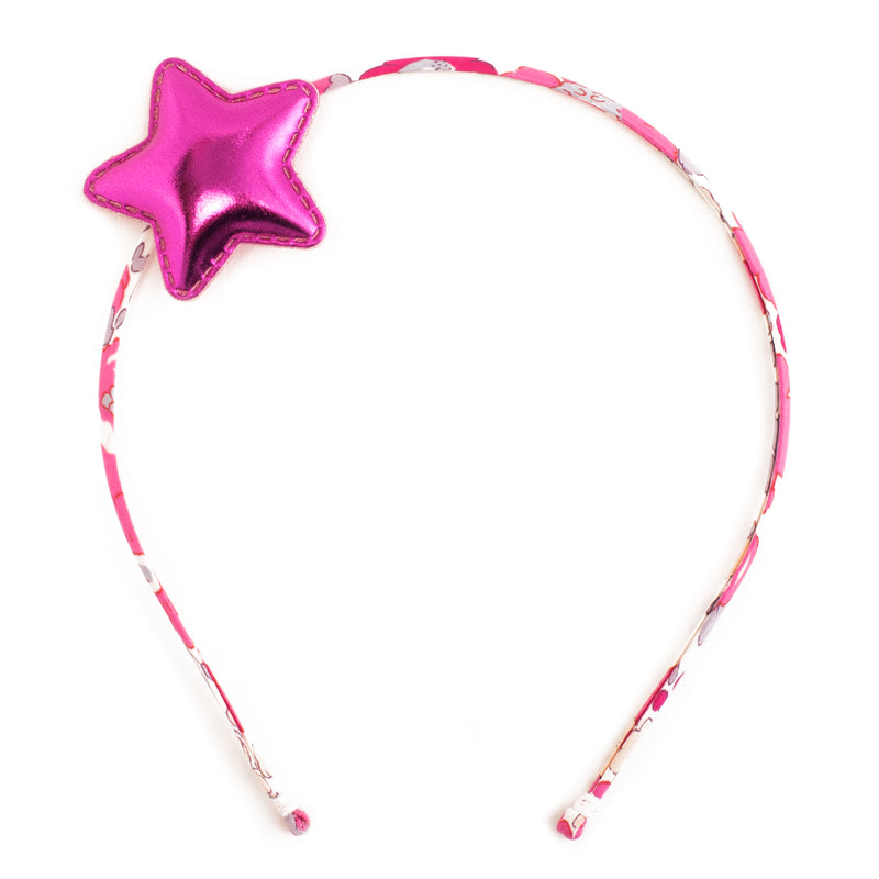 Liberty Hot Pink Glitter Star Alice Band