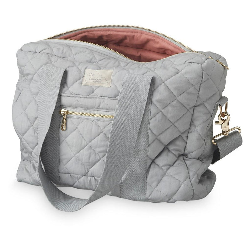 CAM CAM QUILTED CHANGING BAG - GREY 12L
