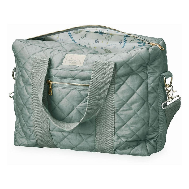 CAM CAM QUILTED CHANGING BAG - MISTY GREEN 16L