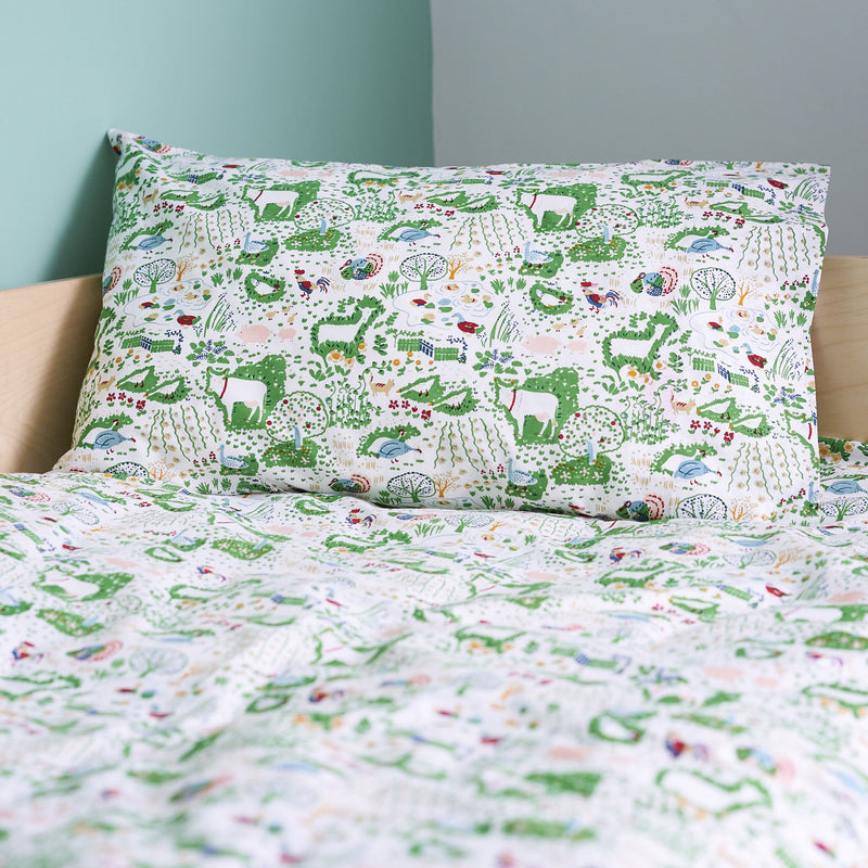 FARM YARD SINGLE PILLOWCASE