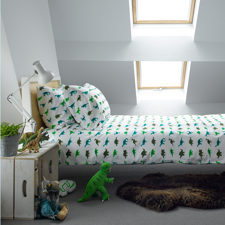 DINOSAURS TODDLER COT BED DUVET SET