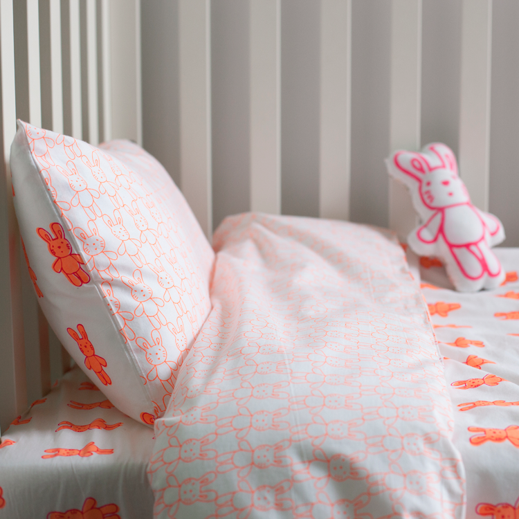 BUNNY RABBIT TODDLER COT BED DUVET SET