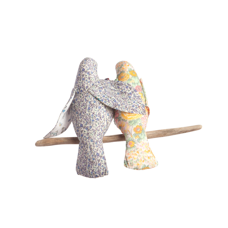 LIBERTY PRINT BIRD COT MOBILE 'OUR BUNDLE OF JOY'