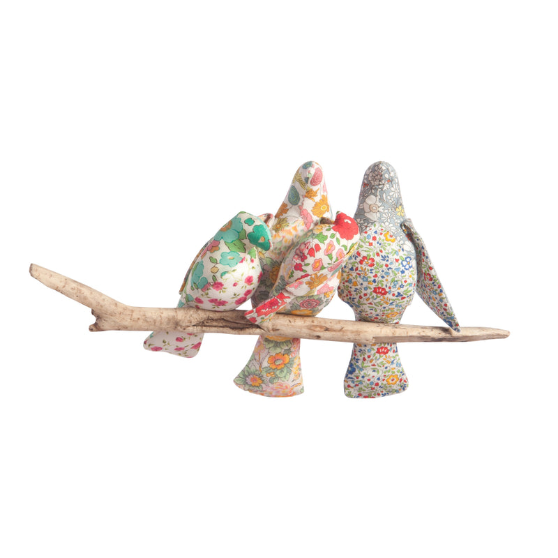 LIBERTY PRINT 'AND THEN THERE WERE FOUR BIRD COT MOBILE