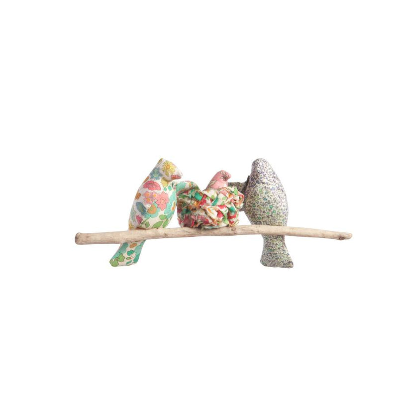 "Liberty print ""Our little one' nesting bird mobile"