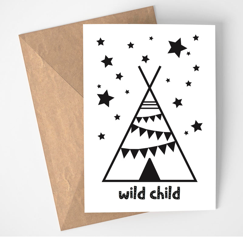 WILD CHILD PRINT/POSTER/CARD