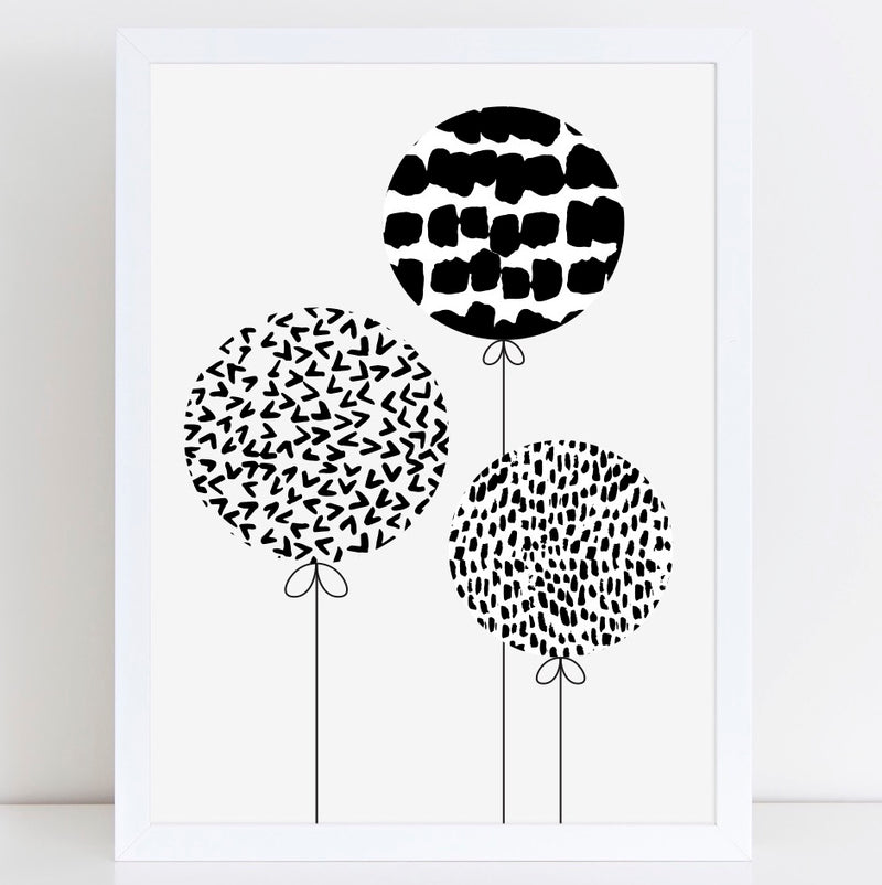Pattern Balloons print/poster/card