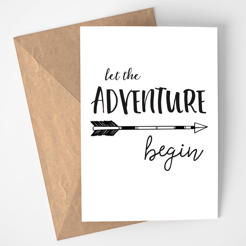 LET THE ADVENTURE BEGIN PRINT/POSTER/CARD