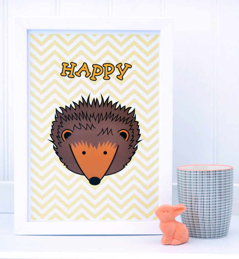 HEDGEHOG A4 PRINT  -  AVAILABLE IN 3 DESIGNS