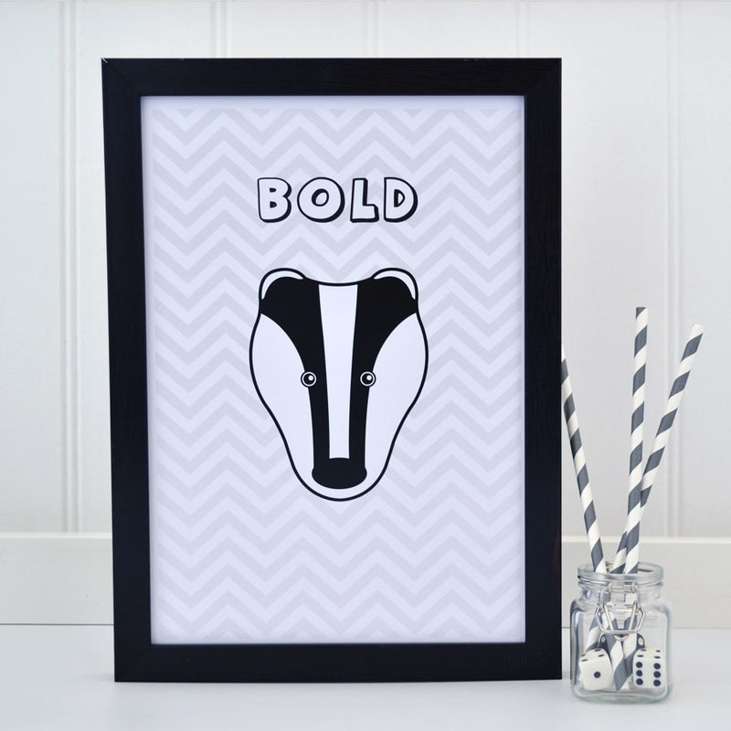 BADGER A4 PRINT - AVAILABLE IN 3 DESIGNS
