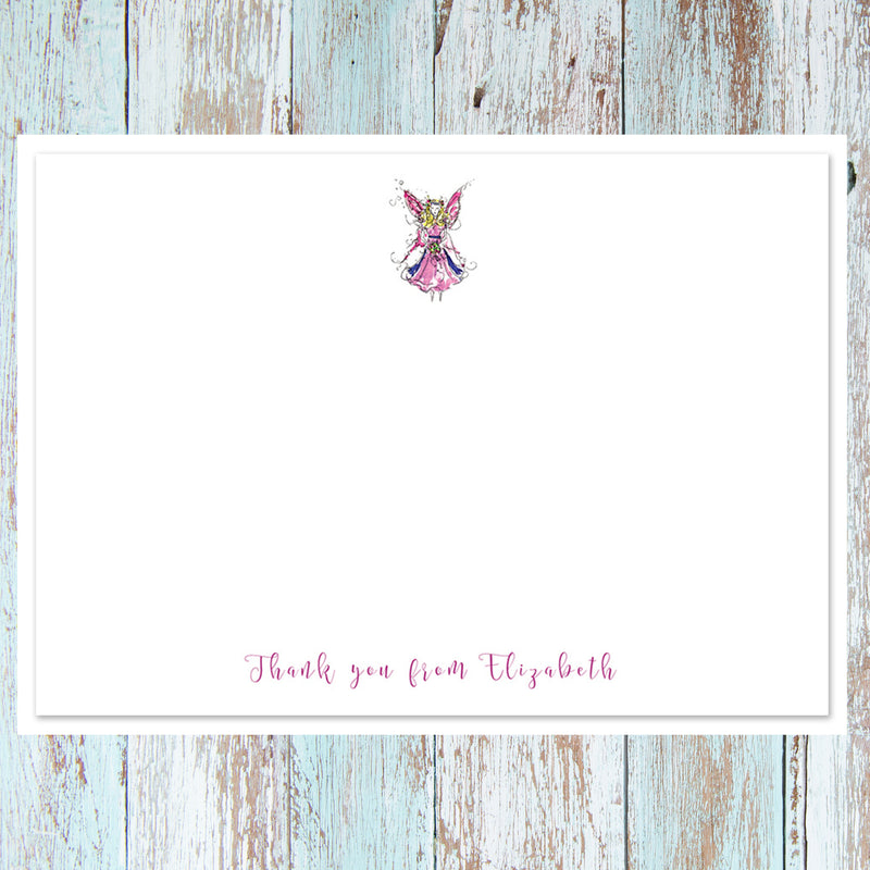 PERSONALISED FAIRY NOTECARD SETS