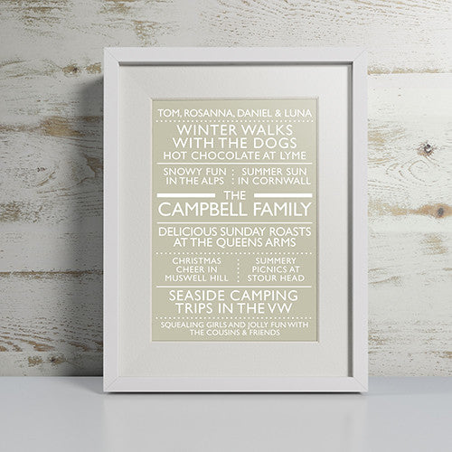 PERSONALISED 'OUR FAMILY' PRINT