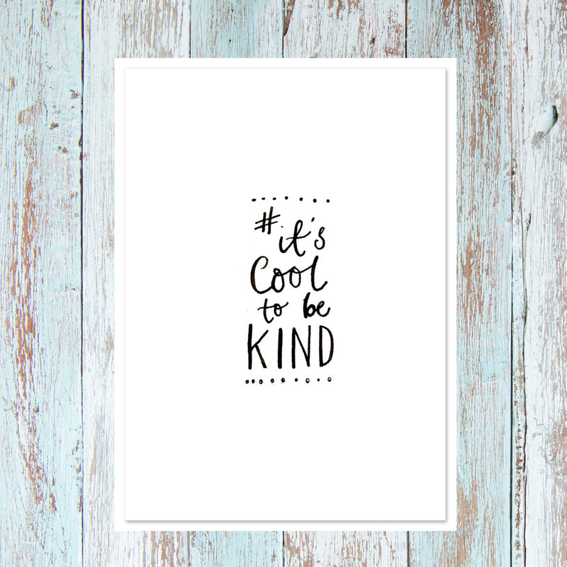COOL CALLIGRAPHY QUOTE CARDS - PACK OF 5 MIXED