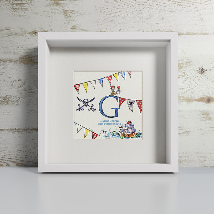 PERSONALISED BABY INITIAL PRINT - LITTLE PIRATES