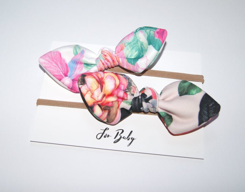 Floral Hair Bow set