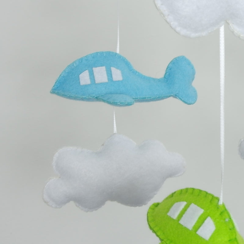 CLOUD AND AEROPLANE BABY MOBILE