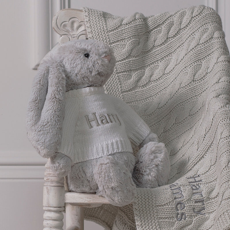 JELLYCAT PERSONALISED BASHFUL BUNNY TOY