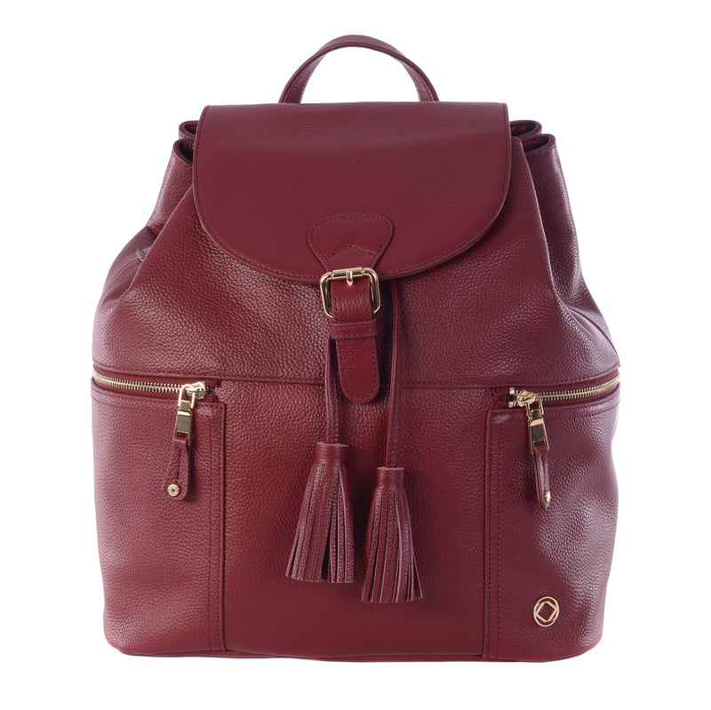 THOR OXBLOOD LEATHER BABY CHANGING BACKPACK