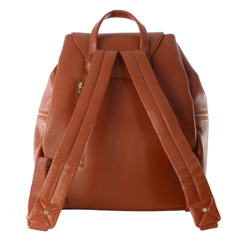 THOR TAN LEATHER BABY CHANGING BACKPACK