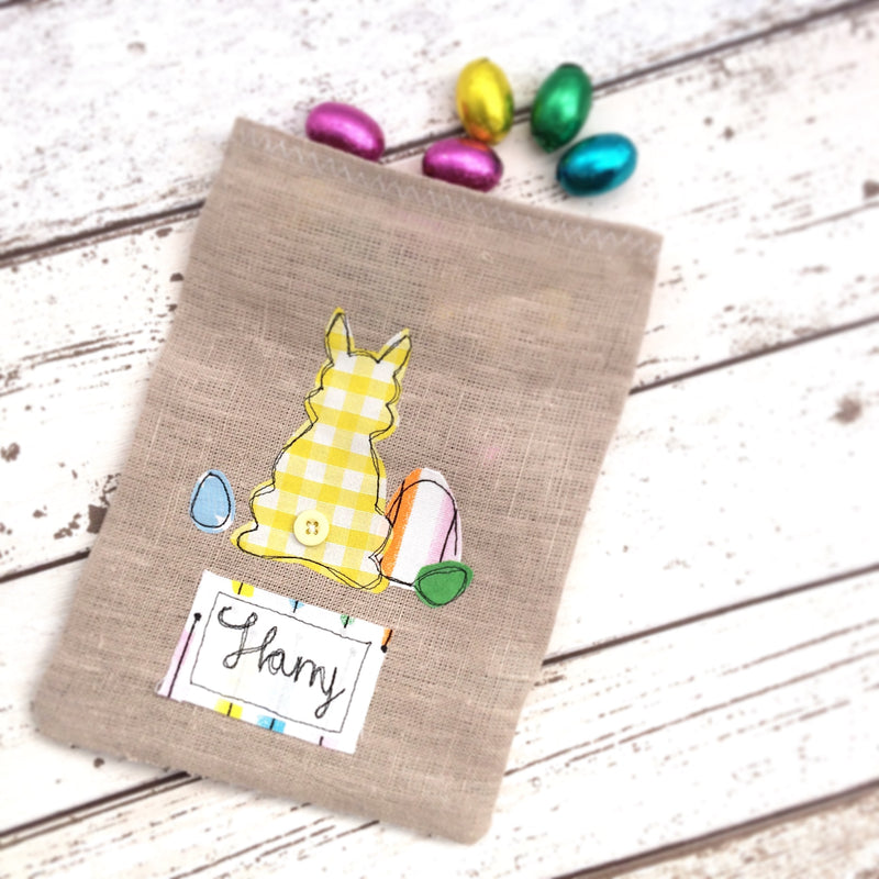 EASTER FAVOUR BAG FREEHAND EMBROIDERED