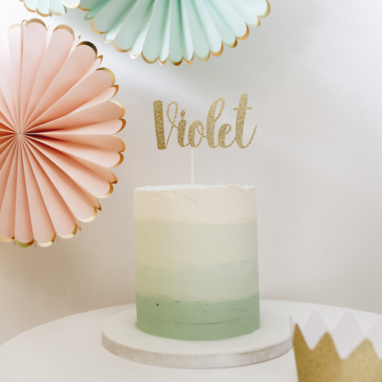 BESPOKE SINGLE NAME | CAKE TOPPER | NANCY FONT